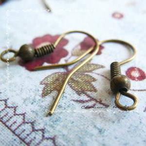 60pcs/30 pairs Antique Fish Hook Ea..