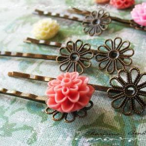36 Filigree Bobby Pins Hair ornamen..